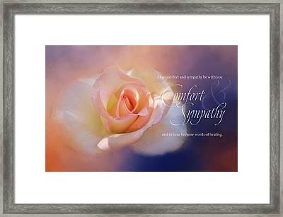 Comfort And Sympathy Framed Print