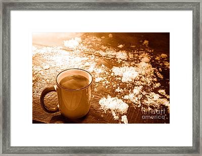 Comfort - Sepia Framed Print