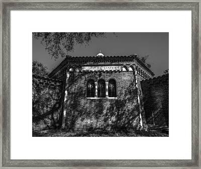 Comfort Station Framed Print by Marvin Spates