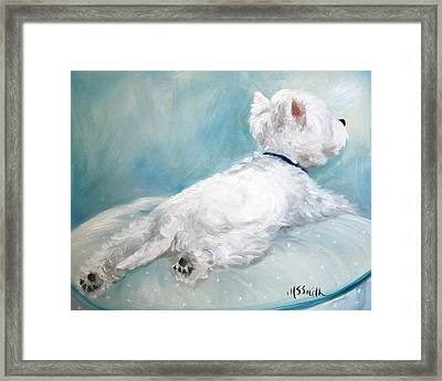 Comfort Zone Framed Print by Mary Sparrow