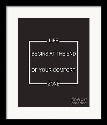 Comfort Zone Framed Prints