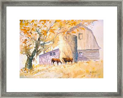 Comfortable-autumn Framed Print