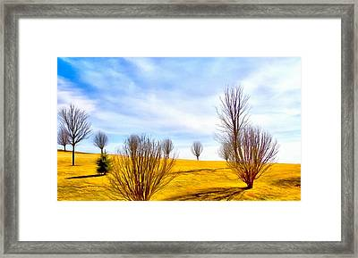 Comfortable Country Scene Framed Print by Dan Sproul