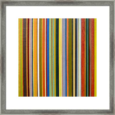 Comfortable Stripes Framed Print by Michelle Calkins