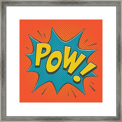Comic Pow Framed Print by Mitch Frey