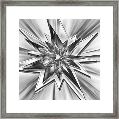 Comic Star - Black And White Framed Print by Steve Ohlsen