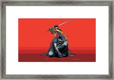 Comics Batman Batman And Robin                  Framed Print