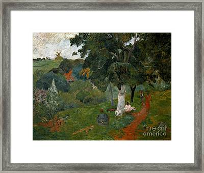 Coming And Going, Martinique, 1887 Framed Print by Paul Gauguin