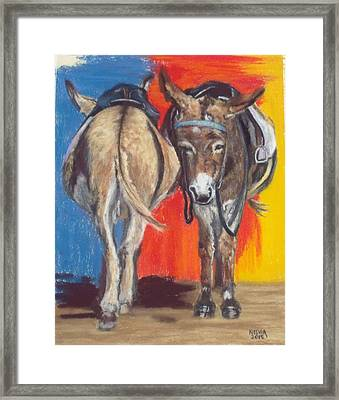 Coming And Going Framed Print by Nelvia McGrath