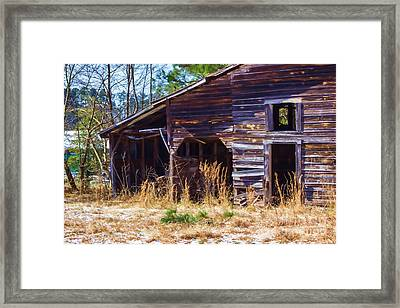 Coming Apart With Character Barn Framed Print