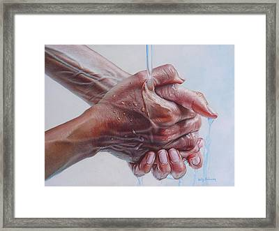 Coming Clean Framed Print by Holly  Bedrosian
