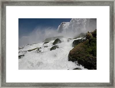 Framed Print featuring the photograph Coming Close To Niagara Falls by Jeff Folger