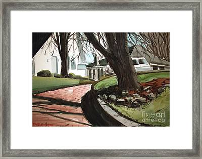 Coming Down The Pink Road Framed Framed Print by Charlie Spear