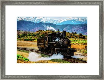 Coming Down The Tracks Framed Print