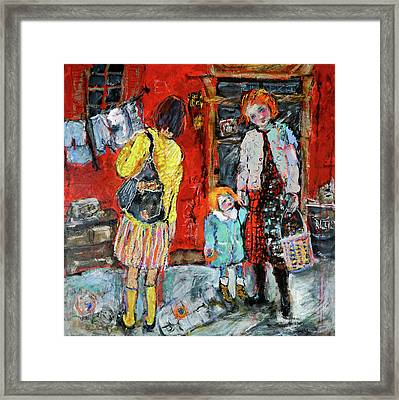 Coming For You Framed Print by Sharon Furner
