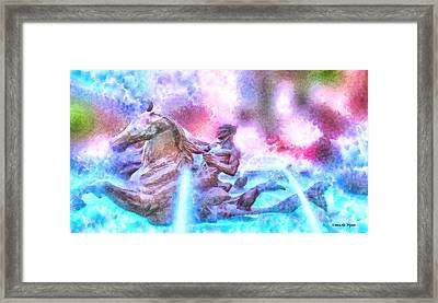Coming From Deep Waters - Da Framed Print