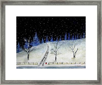 Coming Home For Christmas Framed Print