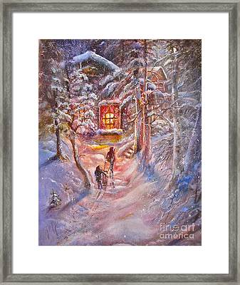 Coming Home Framed Print by Patricia Schneider Mitchell