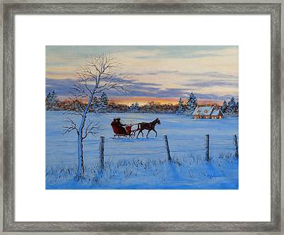 Coming Home Framed Print by Richard De Wolfe