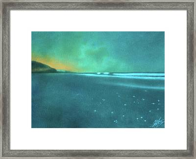 Luminescence At Torrey Pines Framed Print by Robin Street-Morris