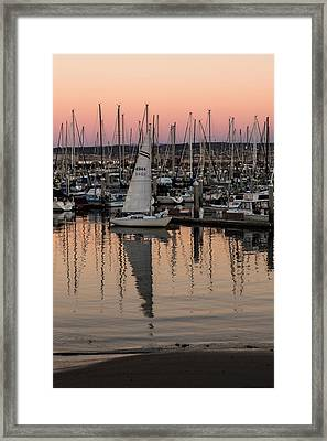 Coming Into The Harbor Framed Print