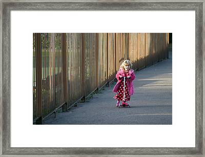 Coming Mummy Framed Print by Jez C Self
