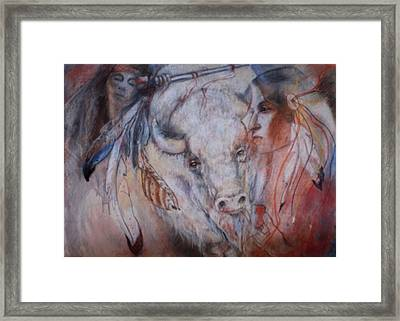 Coming Of The White Buffalocalf Framed Print