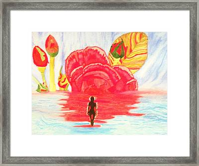Framed Print featuring the painting Coming Out Of One World Into Another by Connie Valasco