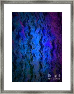 Coming Out Of The Dark Framed Print by Krissy Katsimbras