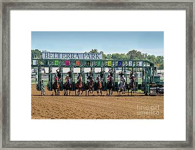 Coming Out Of The Gate Framed Print