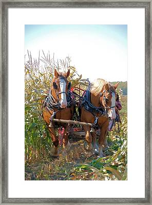 Coming Through The Corn Framed Print by Valerie Kirkwood