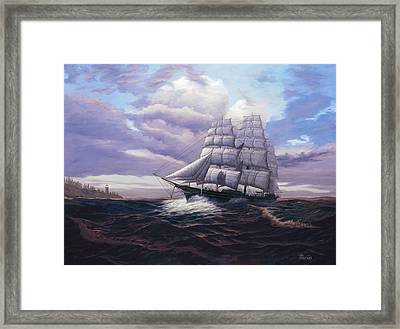 Coming Through The Storm Framed Print