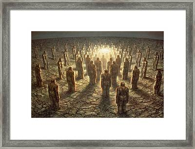 Coming Together In One Framed Print by De Es Schwertberger