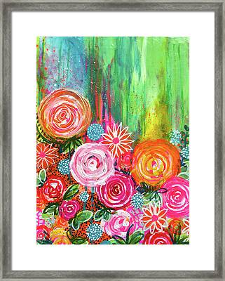 Coming Up Roses Framed Print by Robin Mead