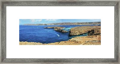 Comino Panorama Framed Print by Stephan Grixti