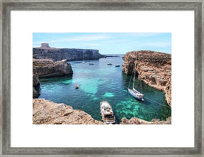 Comino Tower - Comino Framed Print by Joana Kruse