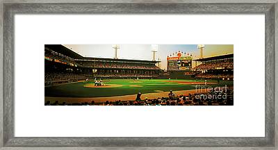 Framed Print featuring the photograph Comiskey Park  by Tom Jelen