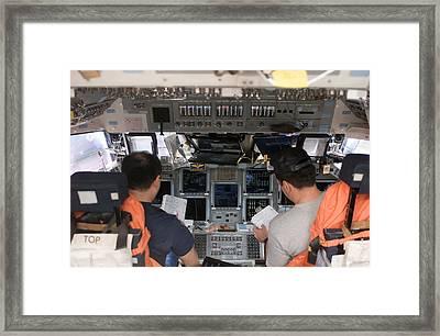 Commander And Pilot Look Framed Print by Stocktrek Images