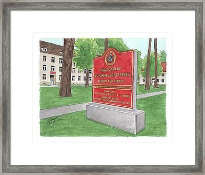 Commander Major General Russell A. Sanborn - Marforeuraf Framed Print