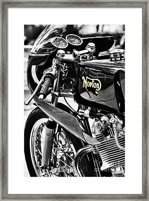Commando Cafe Racer Framed Print by Tim Gainey