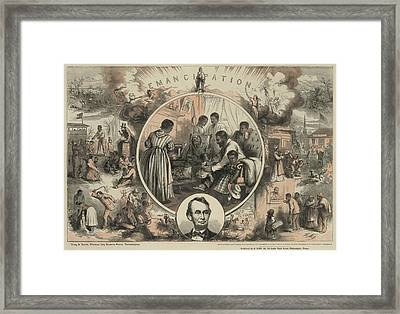 Commemoration Of The Emancipation Framed Print