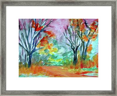 Commerce Field Framed Print by Donna Crosby