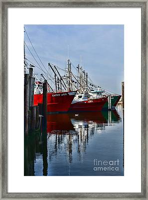 Commercial Fishing Fleet Framed Print by Paul Ward