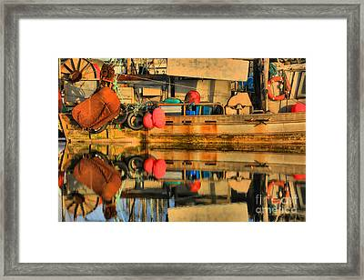 Commercial Fishing Gear Framed Print by Adam Jewell