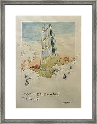 Commerzbank Frankfurt Framed Print by Juan  Bosco