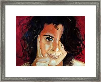 Commision Framed Print by Manuel Sanchez