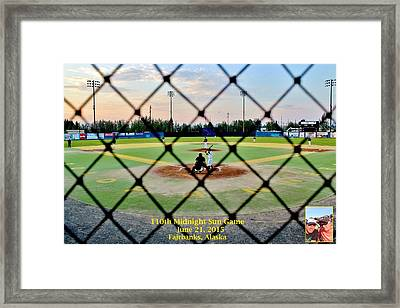 Framed Print featuring the photograph Commission Free - Midnight Sun Game by Benjamin Yeager