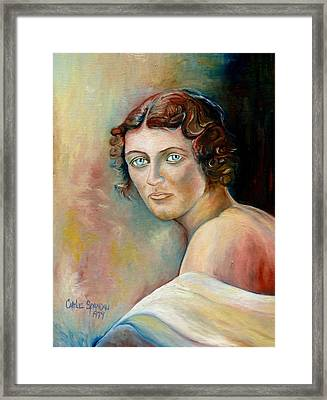 Commission Me Your Face Framed Print by Carole Spandau