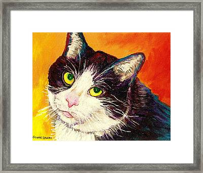 Commission Your Pets Portrait By Artist Carole Spandau Bfa Ecole Des Beaux Arts  Framed Print by Carole Spandau