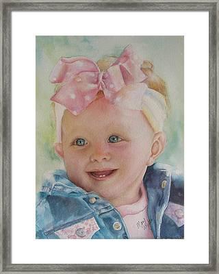 Commissioned Toddler Portrait Framed Print